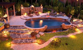 Great Garden Lighting Ideas For A Beautiful Log Cabin Exterior intended for Backyard Cabin Ideas
