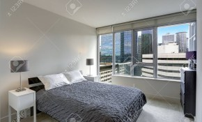 Grey Bedroom In Modern Apartment With Private Balcony Northwest within 14 Some of the Coolest Initiatives of How to Build Modern Grey Bedroom