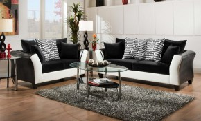 Implosion Black White Sofa Love Seat Livingroom Sets Living pertaining to 10 Awesome Designs of How to Upgrade Black And White Living Room Set