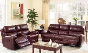Leather Living Room Set In Burgundy New Classic This Set regarding Burgundy Living Room Set