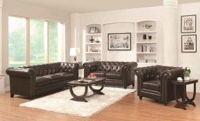 Leather Sofas Traditional Living Room Set Co 504551 regarding Traditional Living Room Set