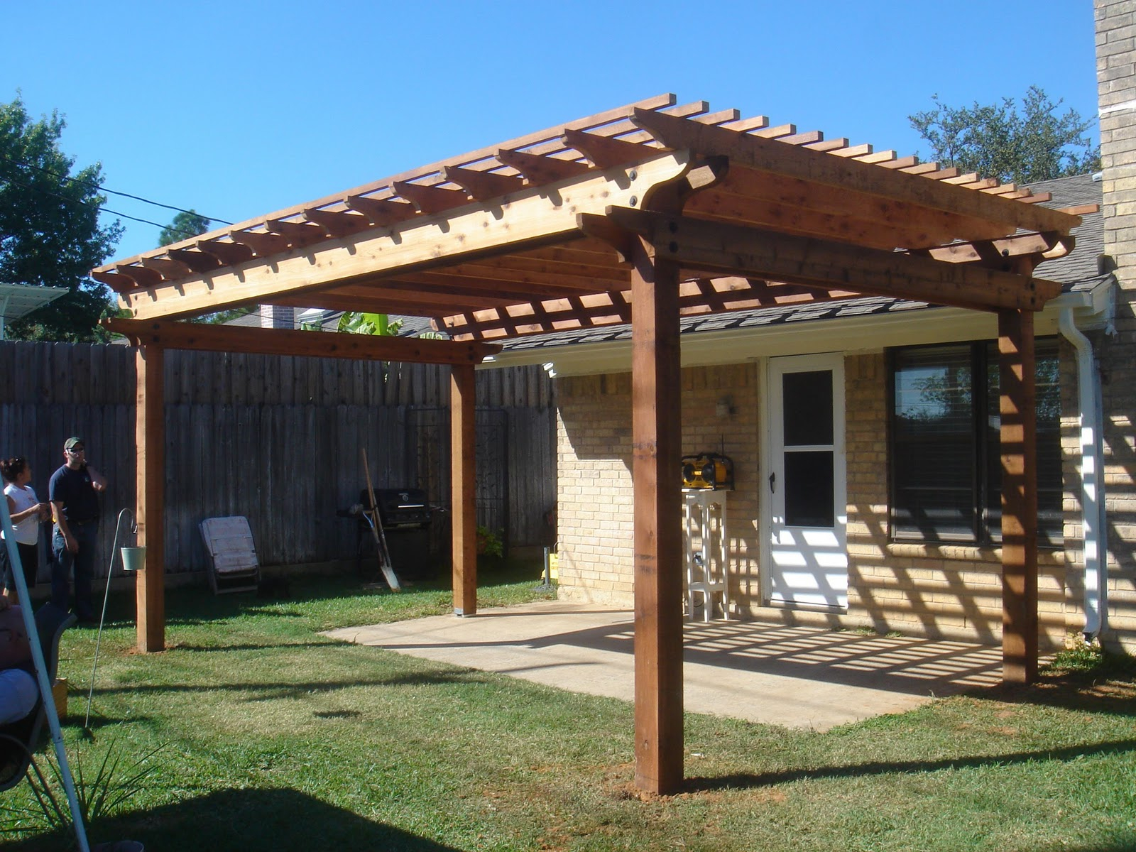 Modern Simple Pergola And Gazebo Design Trends Attached To House with 10 Clever Concepts of How to Upgrade Backyard House Ideas