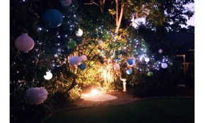 My 21st Birthday Decorations Fairy Lights Paper Lanterns Flood throughout Backyard Decorations For Party