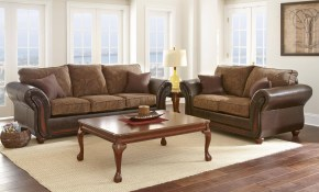 Myco Furniture Brigam Classic Dark Brown Leather Fabric Living pertaining to 15 Some of the Coolest Initiatives of How to Craft Living Room Leather Sets