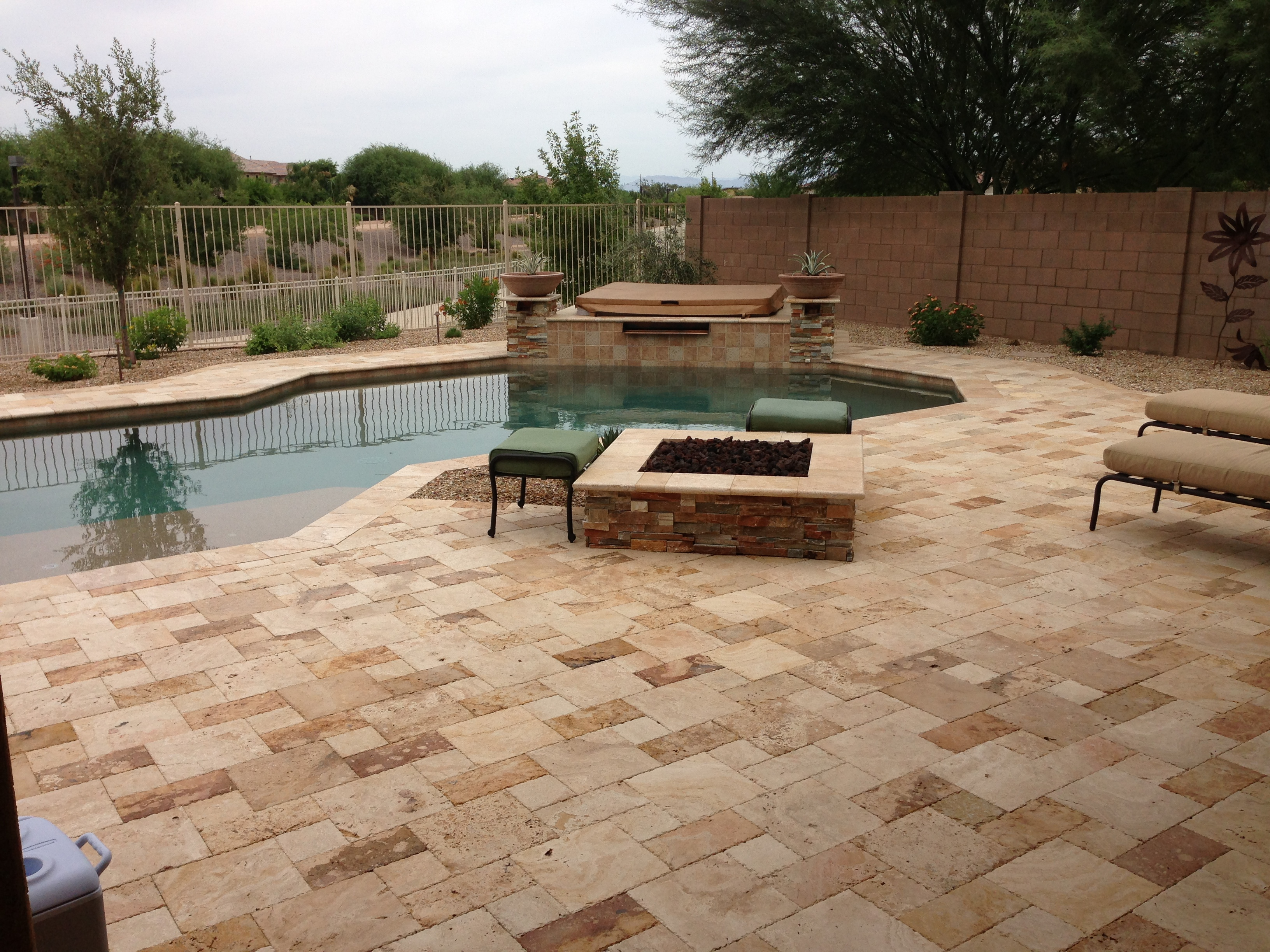 Outdoor Kitchen On Arizona Backyard Landscape Design Sard Info in Arizona Backyard Landscaping Ideas