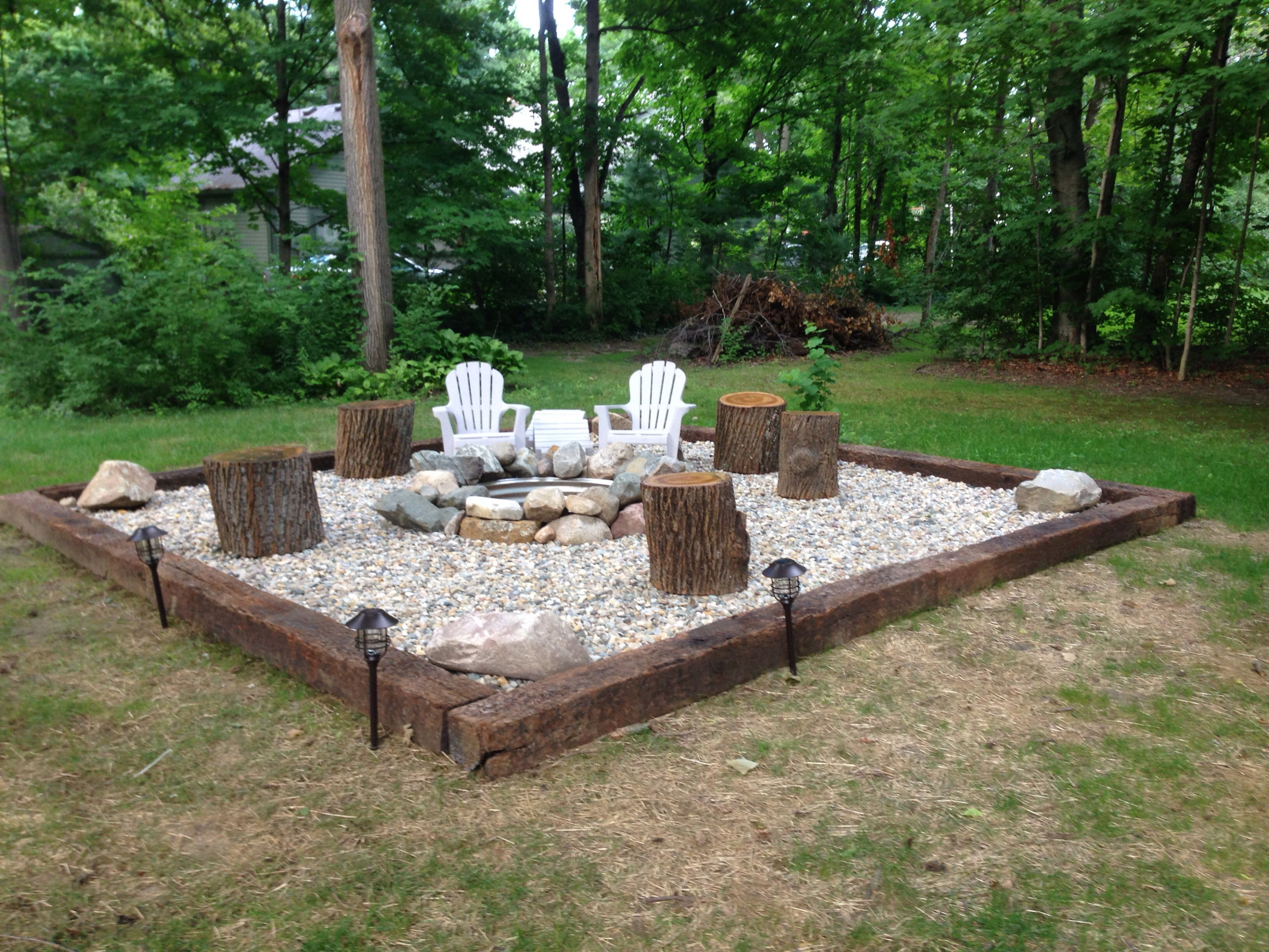 Pin Ashley Miller On Future House In 2019 Backyard Seating in Cheap Backyard Fire Pit Ideas