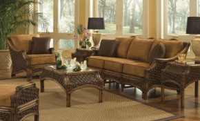 Rattan Dining Room Sets Bamboo Living Room Furniture Sleeper Chair Ikea throughout Wicker Living Room Sets