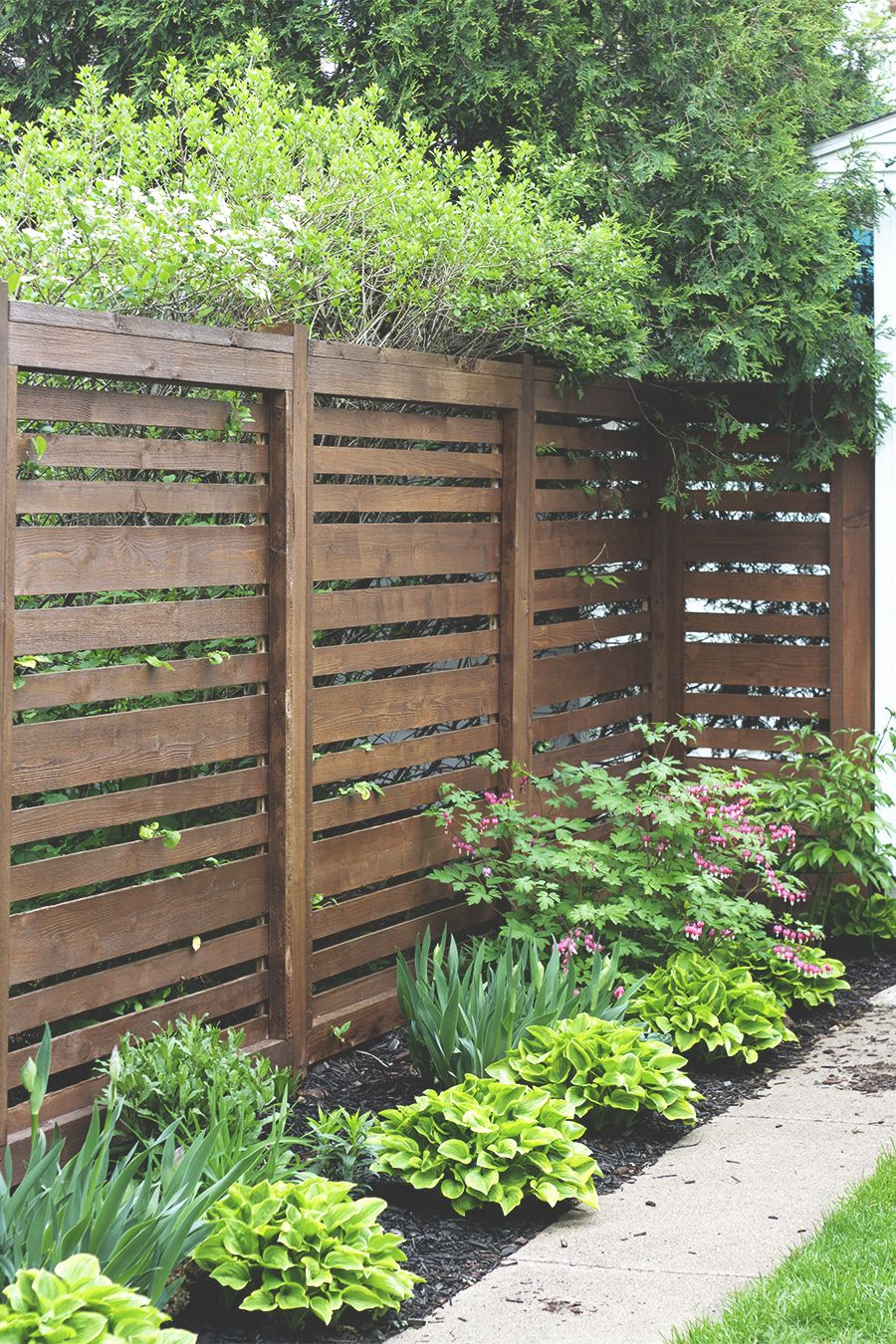 Reveal Our Fence 1 Year Later Inspiration For Outdoor Areas with regard to 13 Clever Concepts of How to Craft Privacy Fences For Backyards