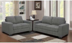Shop 2pc Grey Microfiber Sofa And Loveseat Living Room Set On Sale with Microfiber Living Room Set
