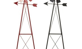 Shop Set Of 2 Black And Red Outdoor Patio Windmill Decorative Garden regarding Decorative Backyard Windmill