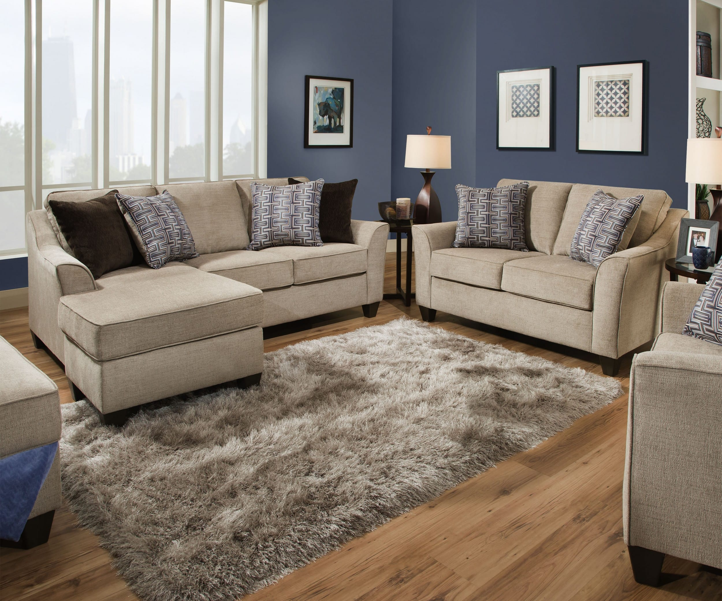 Simmons Upholstery Alamo Taupe 3 Piece Living Room Set With Sofa within 14 Clever Concepts of How to Build Simmons Living Room Set