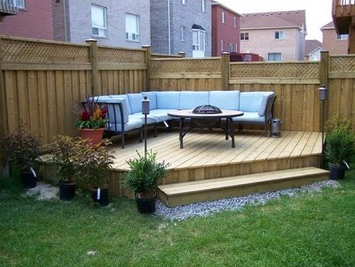 Small Deck Ideas On A Budget Home Design Ideas regarding 14 Some of the Coolest Tricks of How to Makeover Backyard Small Deck Ideas