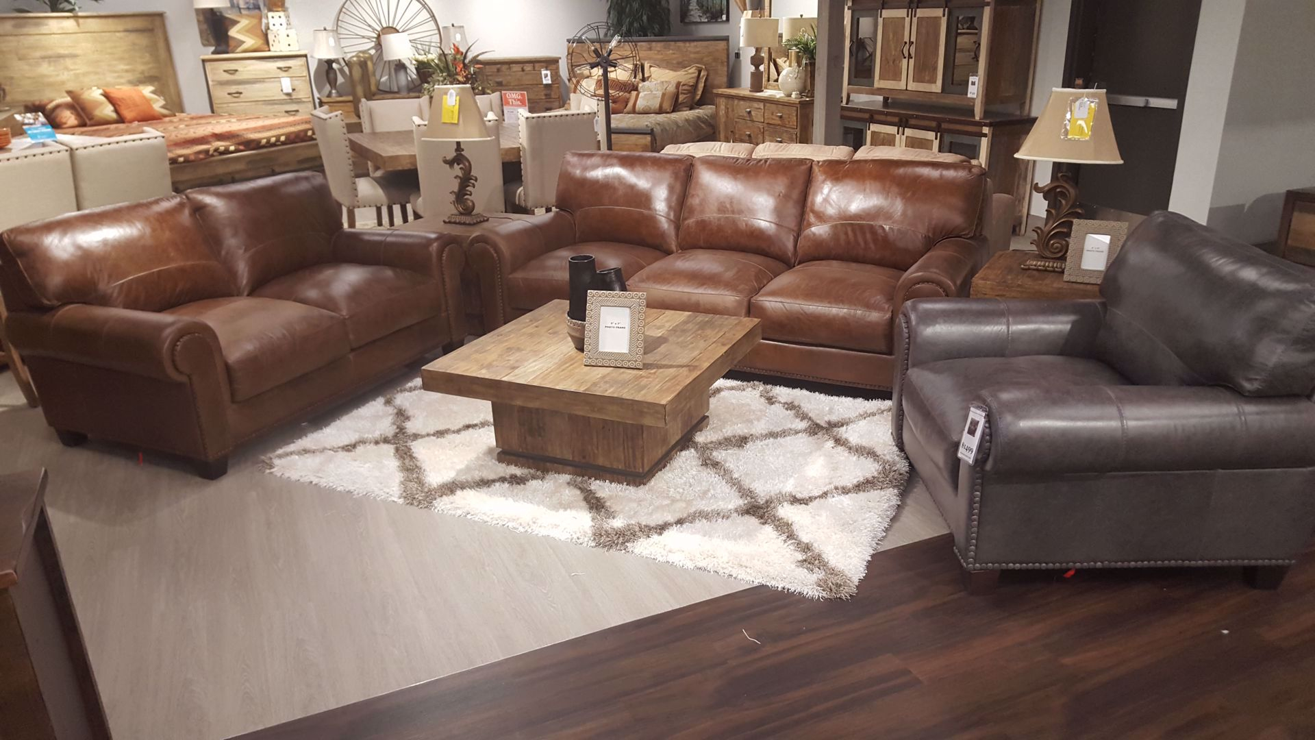 Splendora Tan Leather Living Room Sofa Sets Exclusive Furniture inside Tan Leather Living Room Set