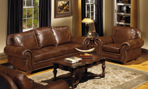 Stationary Living Room Group Usa Premium Leather Wolf Furniture intended for Tan Leather Living Room Set