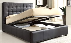 Stylish Leather High End Platform Bed With Extra Storage Lancaster throughout Modern Bedroom Sets For Sale