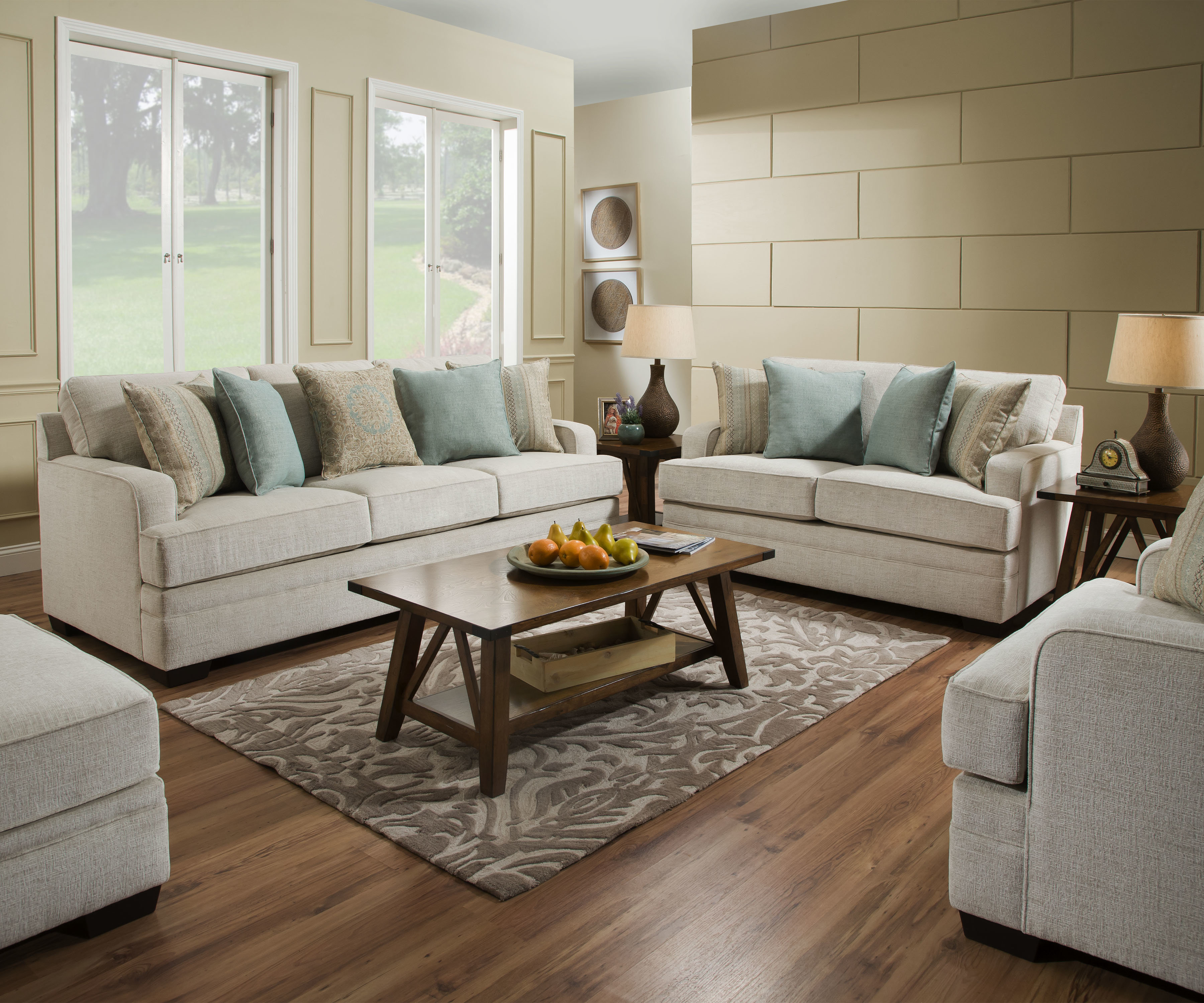 Three Posts Hattiesburg Configurable Living Room Set Simmons inside Simmons Living Room Set