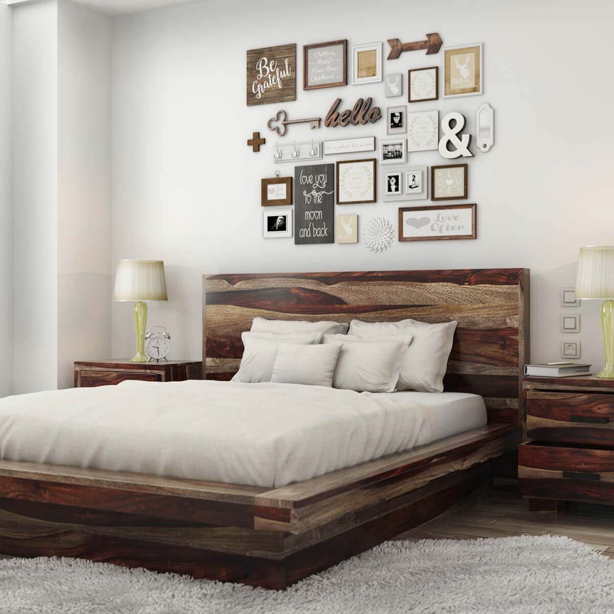 Virginia Modern Handcrafted Solid Wood Platform Bed within 12 Clever Ways How to Upgrade Modern Wood Bedroom