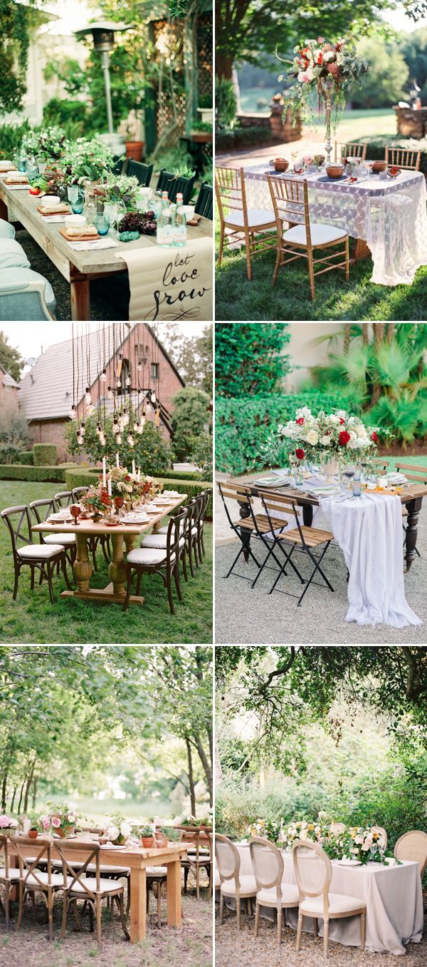 20 Sweet Reception Table Dcor Ideas For Small Intimate Weddings intended for Backyard Wedding Decorating Ideas