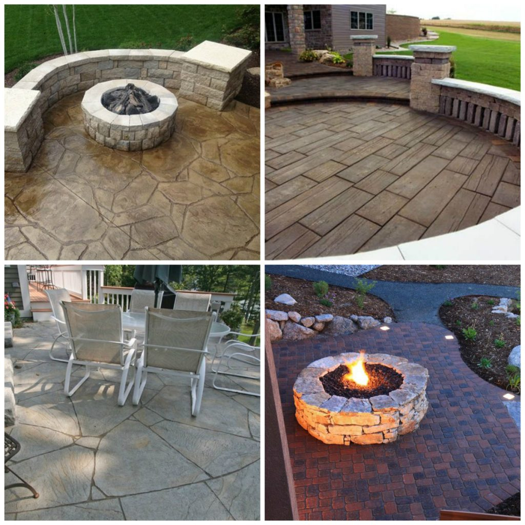 24 Amazing Stamped Concrete Patio Design Ideas Remodeling Expense for Patio Backyard Design Ideas