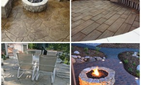 24 Amazing Stamped Concrete Patio Design Ideas Remodeling Expense inside Backyard Stamped Concrete Patio Ideas
