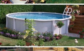 40 Uniquely Awesome Above Ground Pools With Decks with 12 Smart Ideas How to Upgrade Backyard Landscaping With Above Ground Pool