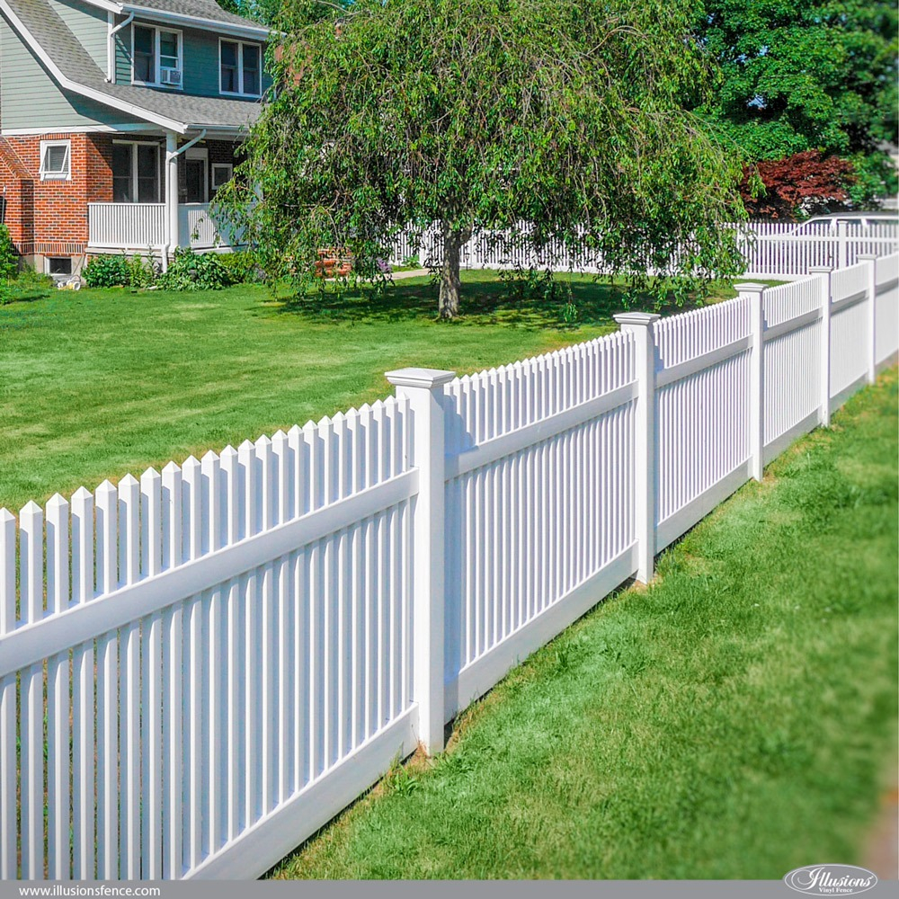 42 Vinyl Fence Home Decor Ideas For Your Yard Illusions Fence intended for Fence For Backyard