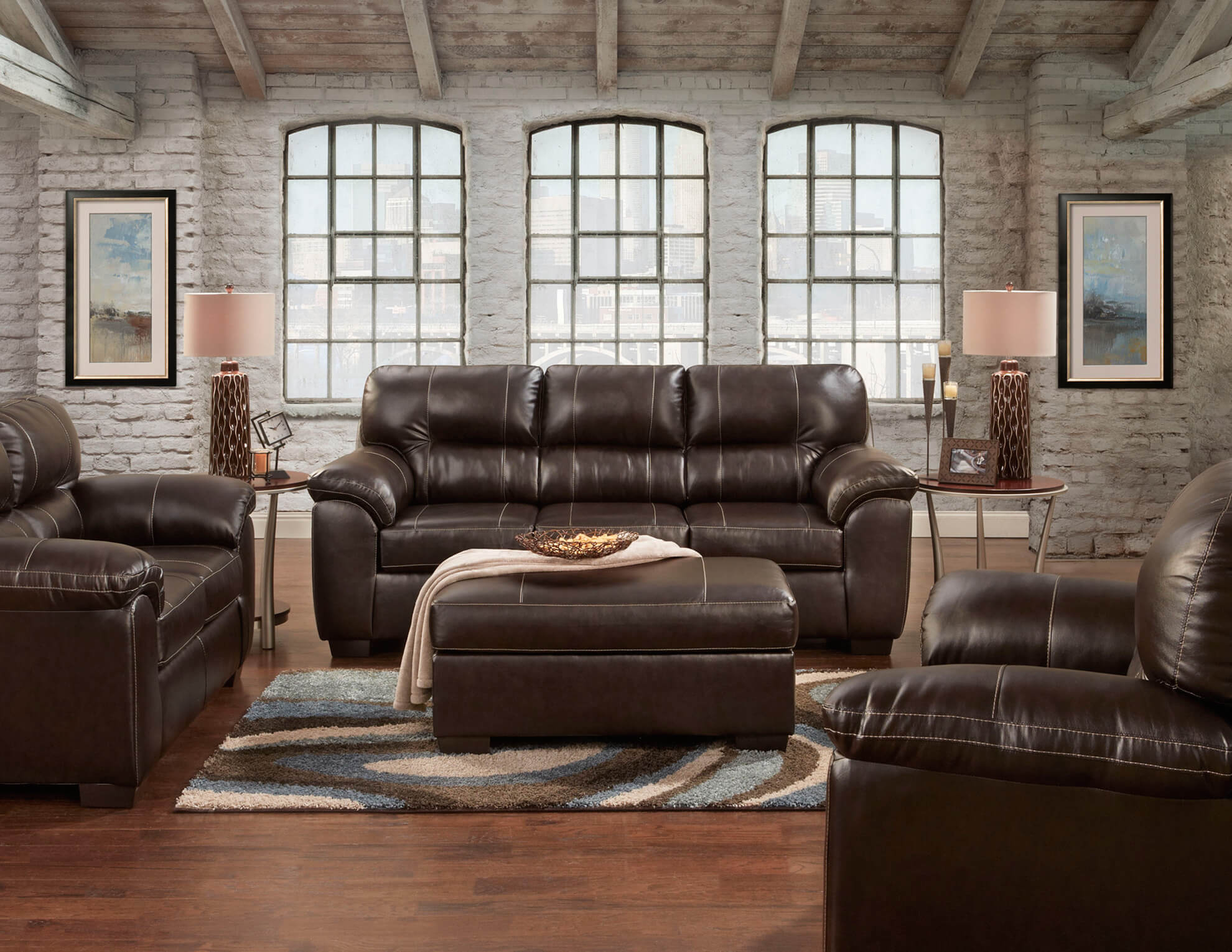 5600 Austin Brown Sofa And Loveseat Discontinued intended for 10 Clever Tricks of How to Makeover Cheap Leather Living Room Sets