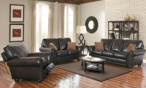 Abson Braxton Brown Bonded Leather 3 Piece Living Room Set with regard to 13 Clever Tricks of How to Upgrade 3 Piece Living Room Sets