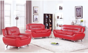 Alice Red Faux Leather 3 Piece Modern Living Room Set with 11 Genius Initiatives of How to Improve Red Living Room Sets