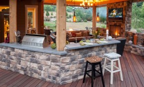 Amazing Outdoor Kitchen And Lounge Share Your Craft Modern intended for Patio Ideas For Backyard