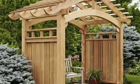 Arching Garden Arbor Woodworking Plan Outdoor Backyard Structures in 11 Some of the Coolest Tricks of How to Makeover Backyard Arbor Ideas