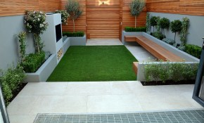 Artificialgrass On Contemporary Modern Small Garden In London Get intended for 10 Clever Initiatives of How to Build Contemporary Backyard Ideas