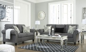 Ashley Furniture Agleno Living Room Set In Charcoal with regard to Deals On Living Room Sets
