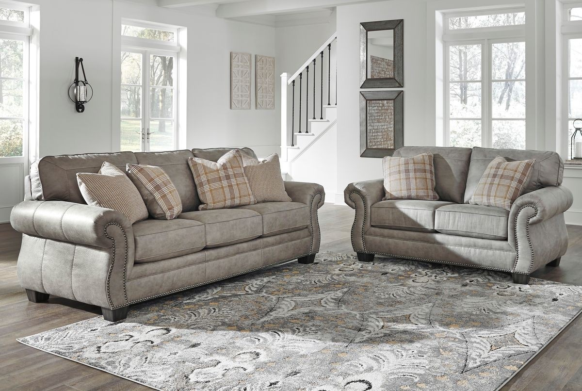 Ashley Furniture Olsberg Living Room Set In Steel in Ashley Living Room Set