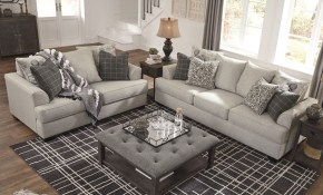 Ashley Furniture Velletri Living Room Set In Pewter within Ashley Living Room Set