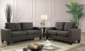 Attwell Modern Victorian Style Grey Linen Fabric Sofa And Loveseat with 10 Clever Ideas How to Build Victorian Style Living Room Set