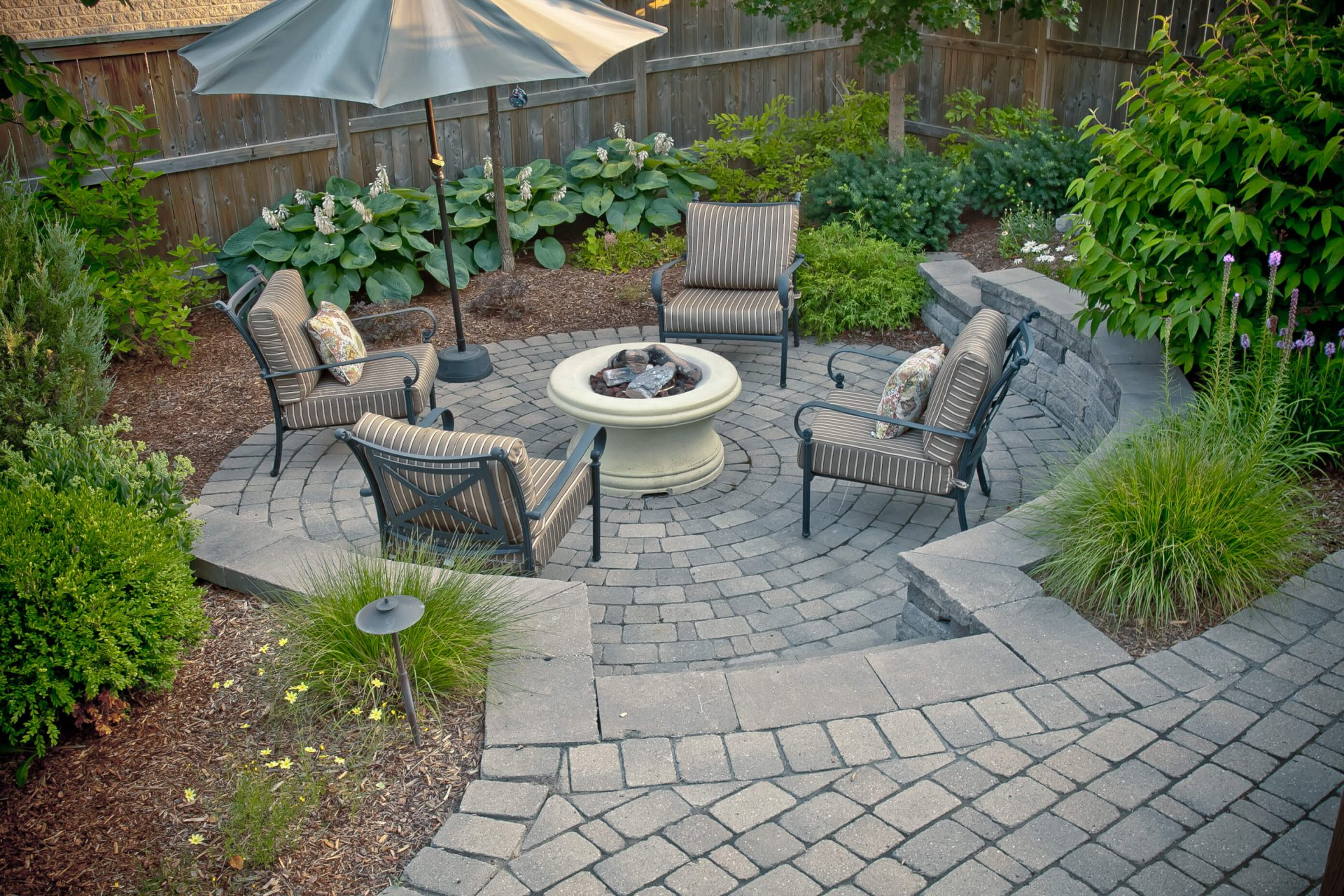 Backyard Landscaping For Patios Fire Pits More Tlc Landscaping in Landscaped Backyards