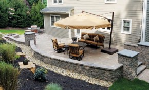 Backyard Patios Design Ideas Cornerstone Wall Solutions regarding Patio Ideas For Backyard