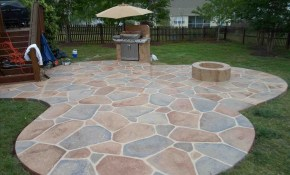 Backyard Stamped Concrete Patio Ideas On A Budget Design Idea And within 12 Clever Tricks of How to Build Backyard Stamped Concrete Patio Ideas