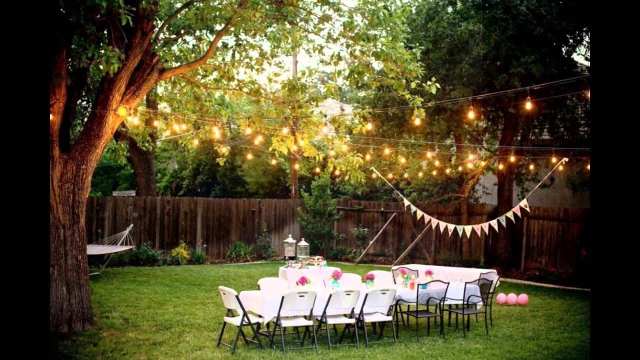 Backyard Weddings On A Budget intended for Backyard Wedding Decorating Ideas