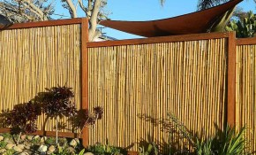 Backyard X Scapes Bamboo Fencing Natural with Backyard XScapes Reed Fencing