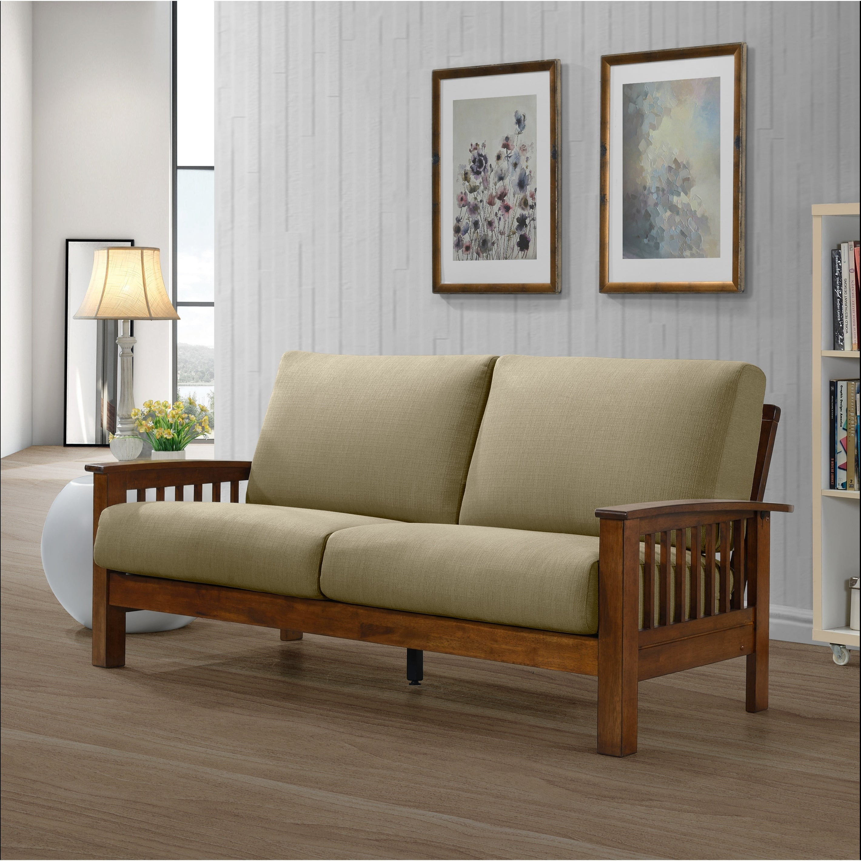 Buy Cushion Back Mission Craftsman Sofas Couches Online At within Mission Style Living Room Set