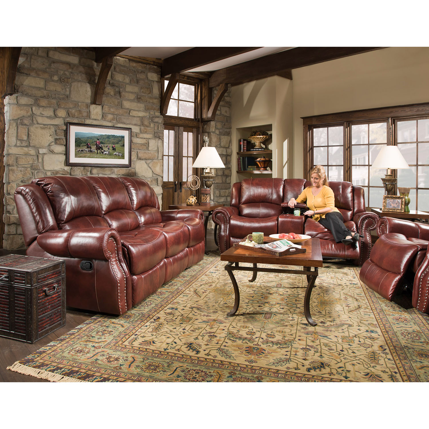 Cambridge Telluride 3 Piece Living Room Set Sofa Loveseat And Recliner with regard to 13 Clever Tricks of How to Upgrade 3 Piece Living Room Sets