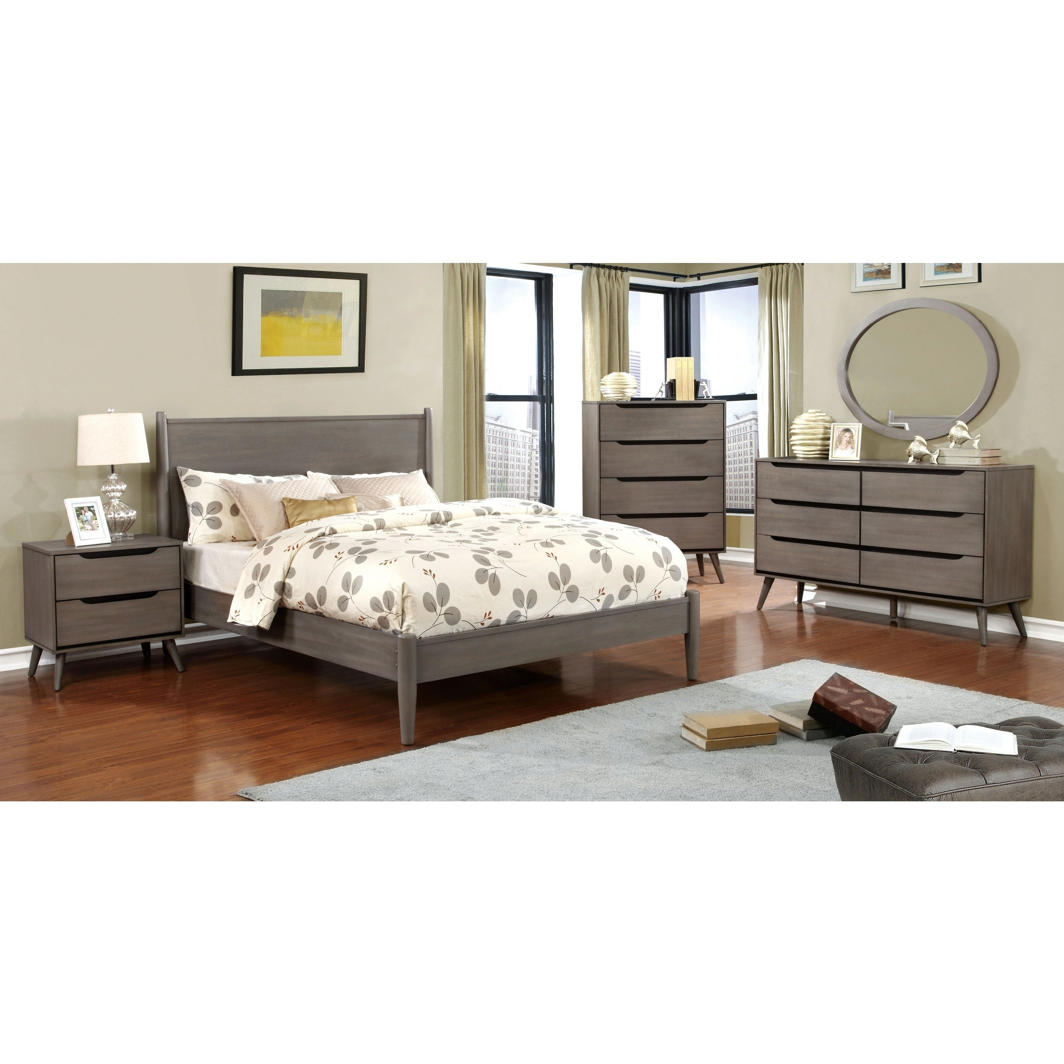 Corrine Ii Mid Century Modern Grey 4 Piece Bedroom Set pertaining to 15 Some of the Coolest Ideas How to Makeover Mid Century Modern Bedroom Set