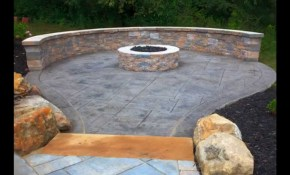 Creative Stamped Concrete Patio Design throughout Backyard Stamped Concrete Patio Ideas