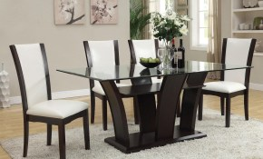 Del Sol Af Malik Contemporary Casual Dining Table W Glass Top for Best Living Room Set
