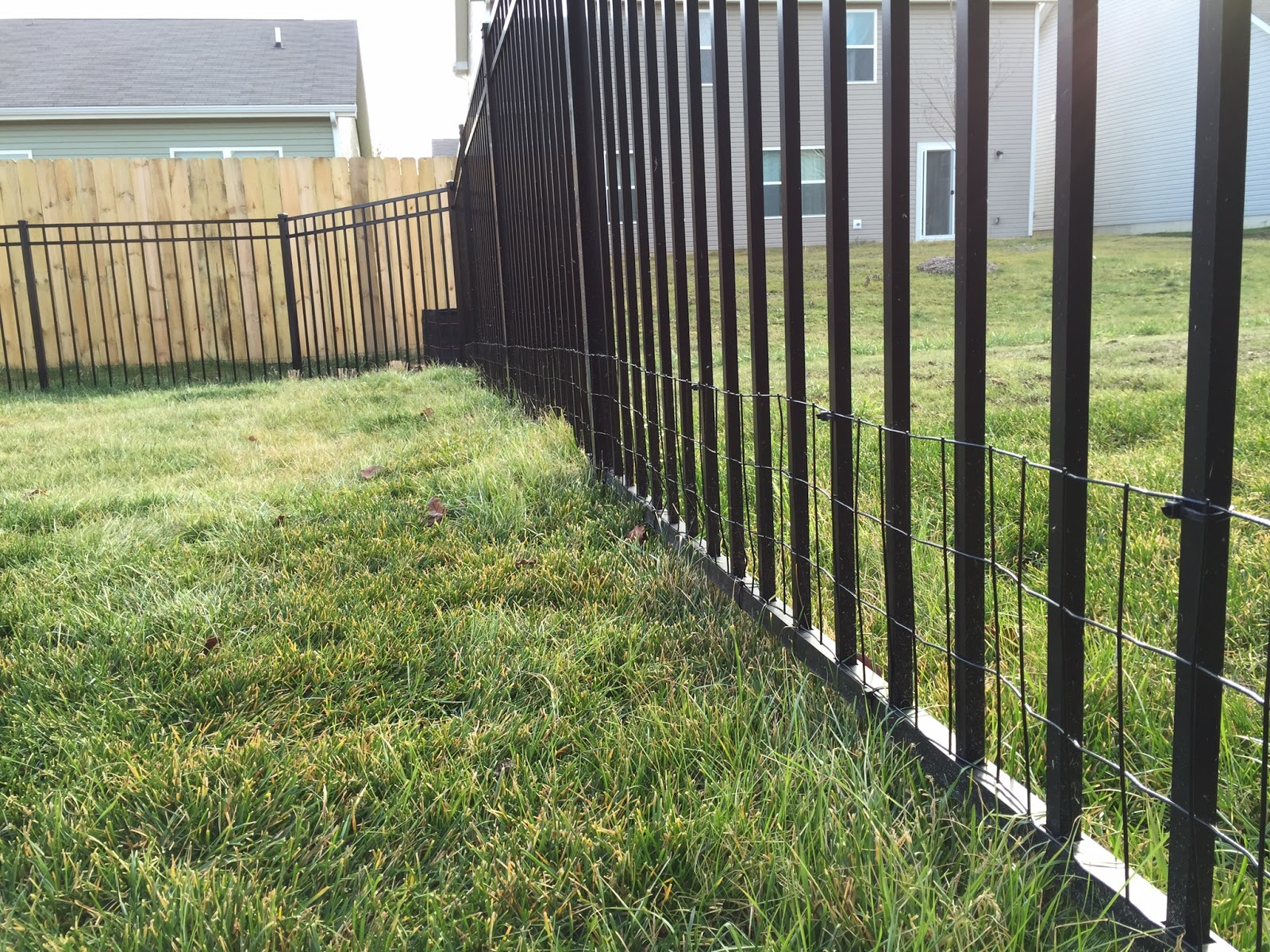 Diy Keep Small Dog In Yard With Welded Wire Aluminum Fence Addition with Backyard Fences For Dogs