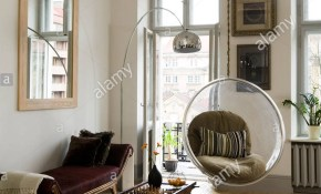 Eero Aarnio Bubble Chair In Living Room With Zebra Skin Rug And inside Zebra Living Room Set