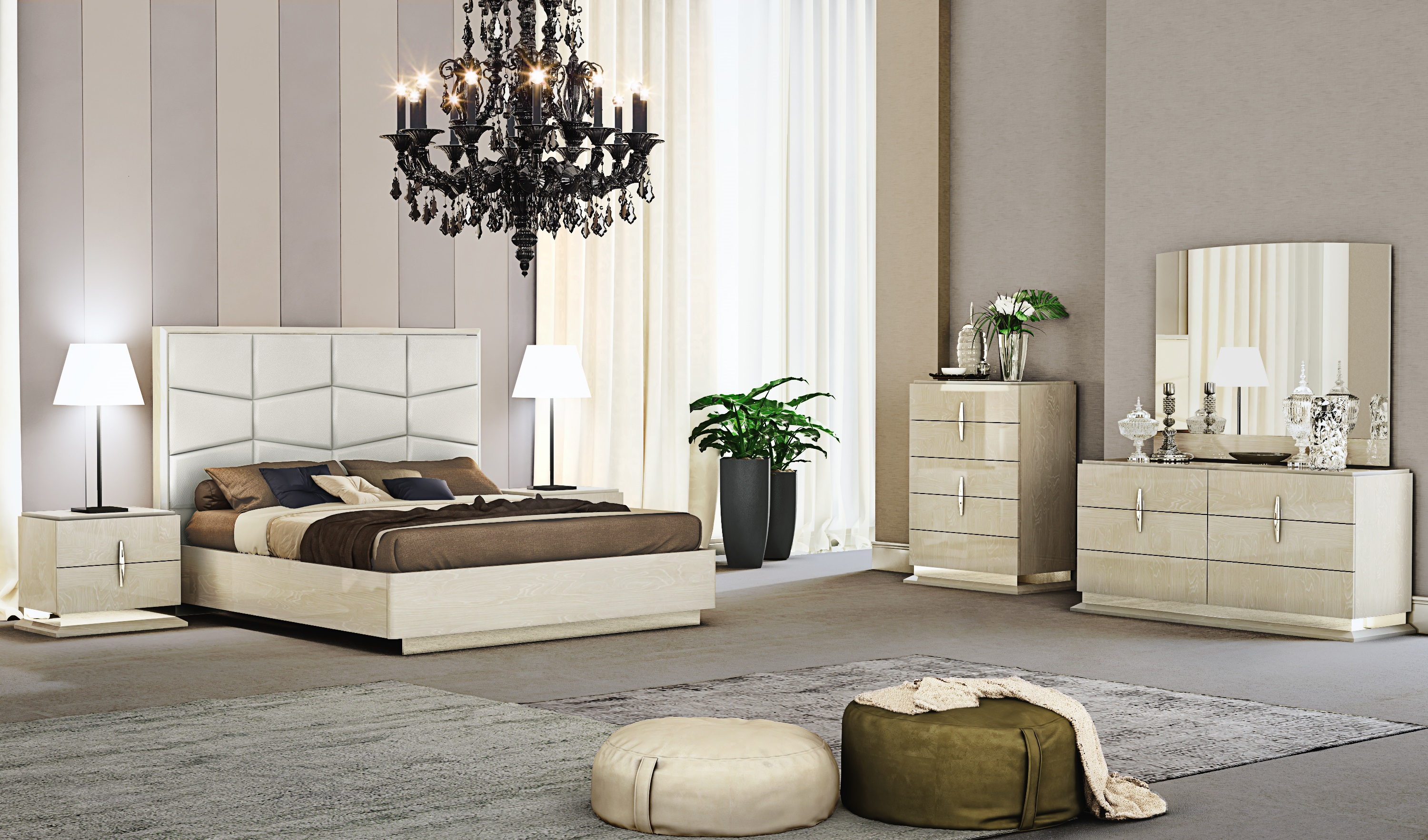 Fashionable Leather Luxury Contemporary Furniture Set intended for 13 Genius Ways How to Build Luxury Modern Bedroom