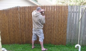 Fence Enhance Your Indoor And Outdoor Decor With Bamboo Fence Home within Home Depot Backyard Fence